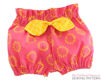 Baby Bloomer Pattern PDF,  High Waisted Bloomer Pattern, Diaper Cover Pattern, Bloomer Pattern, Baby Sewing Pattern pdf, BECCA BABY