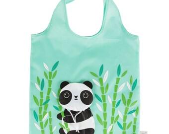 Sass and Belle Panda Reusable Foldable Shopping Bag