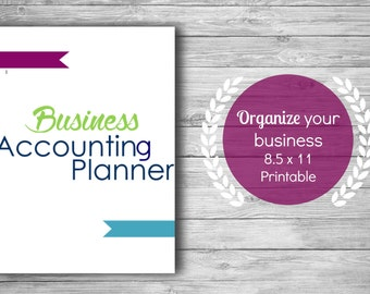 Business Accounting Planner Printable