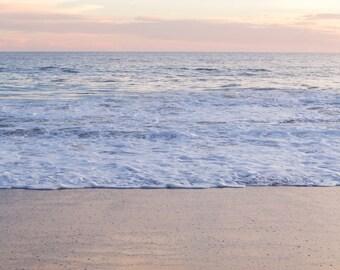 Malibu, Coast, Calm,  Ocean, Sea, California Coast, Travel, Print, Wall Art, Fine Art, Photograph, Waves, Sunset, Warm, Pink, Purple