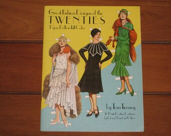 1983 Great Fashion Designs of the Twenties Paper Doll Book by Tom Tierney (Uncut)
