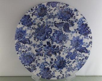 Blue Floral Decorative Plate