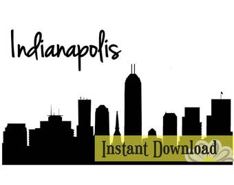 Indianapolis Skyline - SVG / Studio3 File for Cameo and Cricut - Instant Download