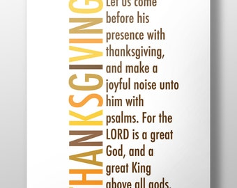 Christian Thanksgiving,Thanksgiving printable,Thanksgiving art,Psalm 95,Thanksgiving inspiration,Thanksgiving scripture,#L159