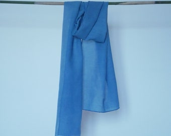 Blue naturally dyed scarf