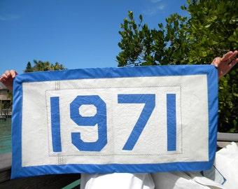 Sail Cloth Banner 1971 Vintage
