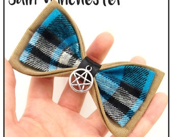 Sam Winchester Inspired Hair Bow / Bow Tie (Double / Single) (Supernatural)
