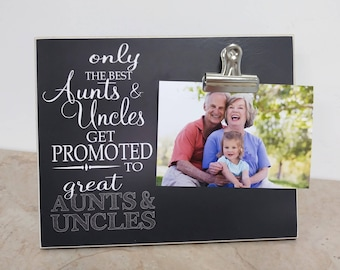 Only The Best Aunts and Uncles Get Promoted to Great Aunts and Uncles Photo Frame, Pregnancy Reveal, Pregnancy Announcement  Picture Frame