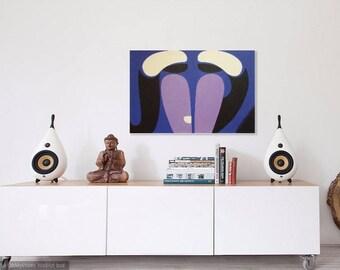 Ron Waddams original painting Path of Perfection acrylic English Quaker artist Larren Art Trust Worldwide freight LARGE ART