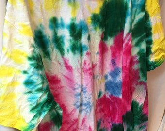 Tie Dyed T-Shirt Adult 2X  (A2x-8)