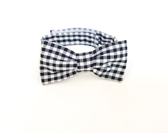 Black checked Bow Tie ~ Baby Bow tie ~Black white bow ~ Daddy and me bow tie~ page boy bow tie~ wedding bow tie~ Spring bow~ groomsmen tie