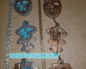 Squirrel Necklaces