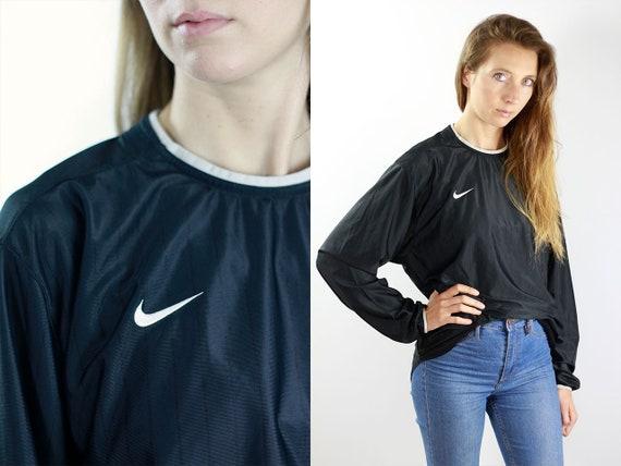 Nike Longsleeve Nike Long Sleeve Vintage Nike Top Vintage Nike Shirt Nike Black Jersey Nike Sweatshirt 90s Nike Top 90s Black Shirt Nike