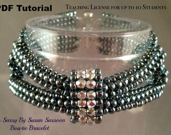 Teaching License for up to 10 Students Bowtie Bracelet PDF Tutorial