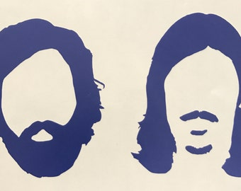 Avett Brothers Heads Decal