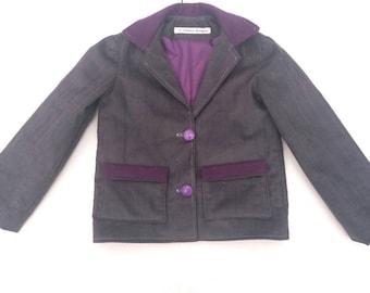 boys jacket, Toddler jacket, boys blazer,  Handmade, Short Jacket, Little John Joe