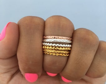 Stacking or Spacer Rings | Mixed Metals