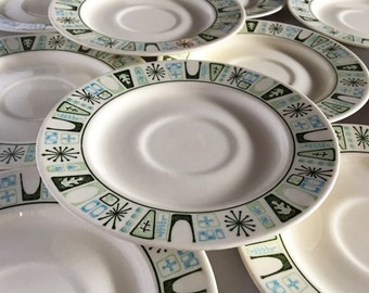 Vintage Mid Century Lot of 10 Taylorstone Cathay Large Saucers