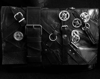 Pure leather Steampunk iPad tablet case