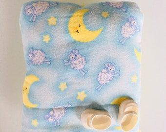 Baby Doll Bunting Baby Bag Pillow Blanket in One for Dolls Original Design Moon