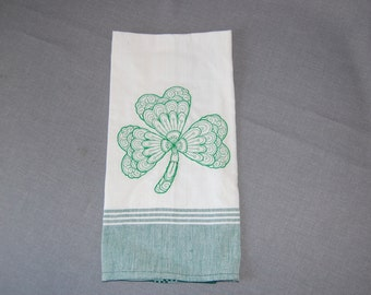 Lucky Clover embroidered kitsch kitchen towel