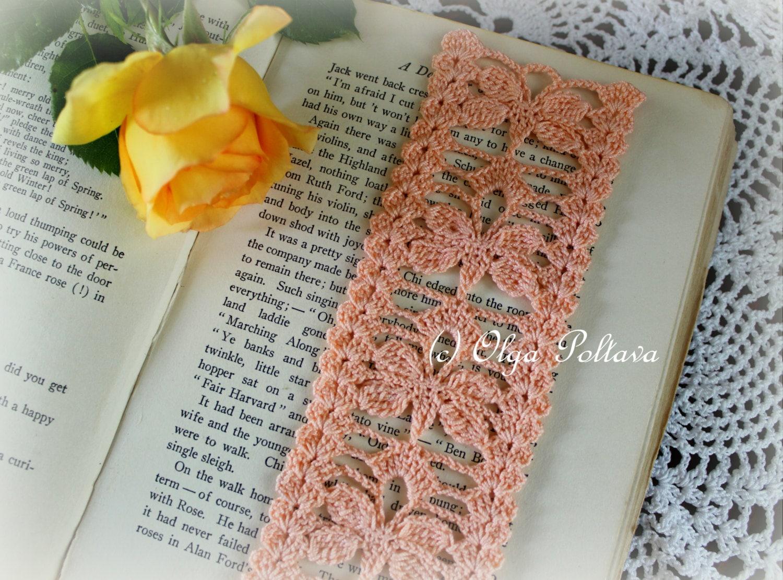 Butterflies Bookmark, Crochet Bookmark Pattern, Crochet Lace Edging ...