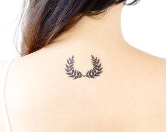 Laurel Wreath Temporary Tattoos (Set of 2)
