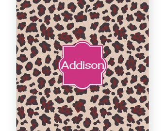Cheetah Personalized Velveteen Plush Blanket/ThrowCustom Personalized Blankets, Custom Kids Blankets, Personalized Blankets