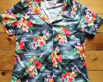 Vintage Retro Hawaiian Top Floral Shirt