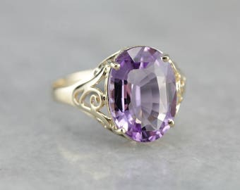 Amethyst Birthstone Ring, Filigree Ring, Right Hand Ring, February Birthstone ZAAZJF37-D