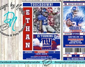 New York Giants Football Invitation
