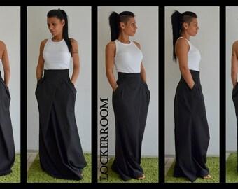 Maxi skirt, Skirt With Pockets, Long skirt, Floor Length Skirt, Black Maxi Skirt, Pleated Skirt, Black Skirt, Plus Size Maxi Skirt