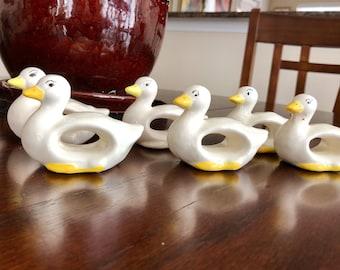 Duck Napkin Rings – set of 6