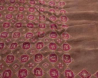 KK Indian Saree Silk Blend Hand Beaded Fabric Premium Ethnic Sari