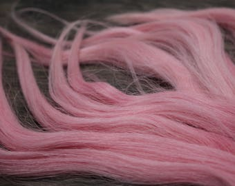 "9"" 0.36oz ROSEE  hand dyed suri alpaca locks washed combed doll hair for reroot wig bjd, Blythe Minifee msd reborn Waldorf doll"