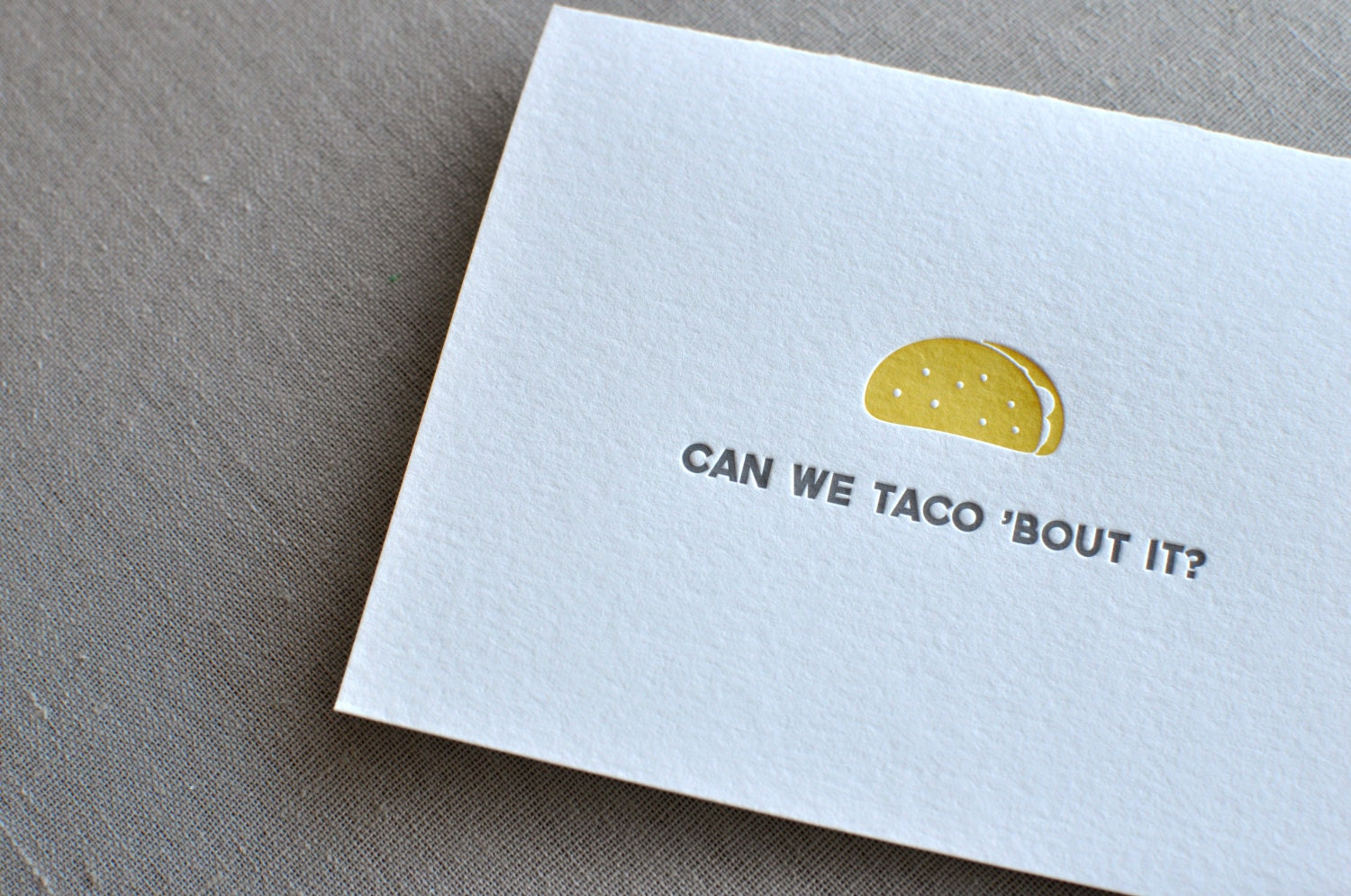 Can we taco bout it letterpress card envelope zoom m4hsunfo