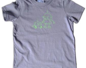 Roboter grafische T-Shirt für Kinder - Roboter Kleinkind-t-Shirt, grau T-shirt - Größe 2 t - Größe 4 t Shirt für den großen Bruder, großer Bruder Shirt, Hemd für jungen