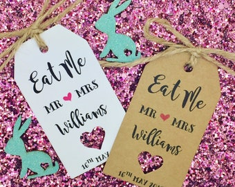 EAT ME Alice In Wonderland Favour Tags, Birthday Favour, Wedding Favour, Thank You Tags