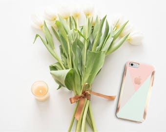 iPhone 8 Case iPhone 8 Plus Case iPhone X Pastel Shades iPhone Case and Rose Gold Detailing  Otterbox Symmetry