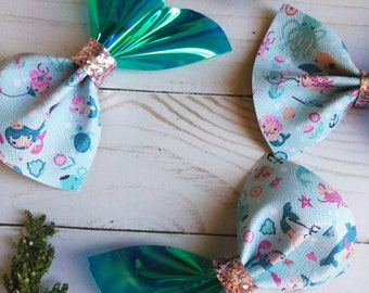 Mermaid Tail Faux leather bow