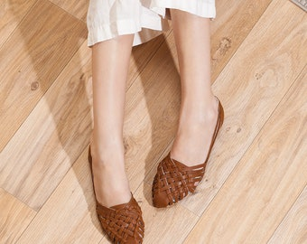 Huaraches, Woven Sandals, Leather Sandals, Sandals, Women's Sandals, Womens Shoes, Flats , Summer Flats, Sara // Free Shipping