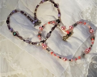 Set of two beaded necklaces. Handmade and designed by Dressage Designs Inc. FREE shipping in the USA!