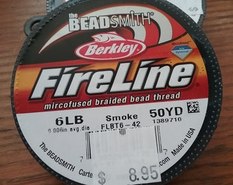 Fireline - 6 lb Smoke - 50 yd