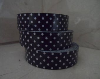 1 roll of black adhesive fabric with white dots 5 meters