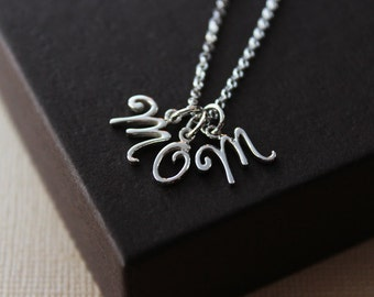 Mom necklace mom letter necklace necklace for mom mothers day gift for mom charm