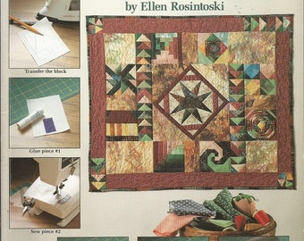 """Vintage American School of Needlework """"Marvelous Mini Quilts for Foundaton Piecing"""" Book"""