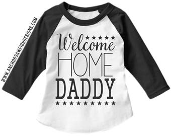 Welcome Home Daddy Youth Raglan