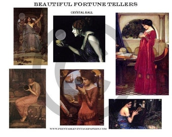 Beautiful Fortune Tellers Collage Sheet E808