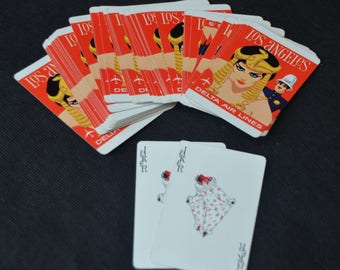 eb2459 Vintage DELTA Airlines Playing Cards CLEOPATRA Los Angeles Movie Industry US Playing Card Company