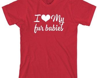 I Love My Fur Babies Shirt - dog lover shirt, dog lady, gift idea - ID: 1449